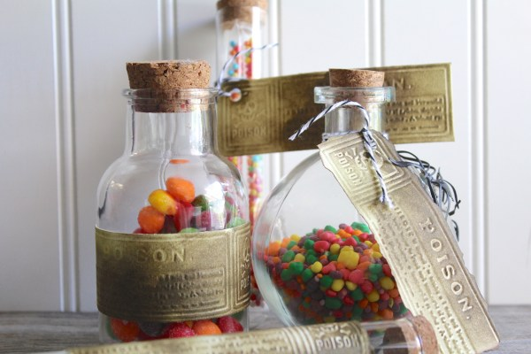 Everyday Party Magazine Simple 5 Minute DIY Poison Bottle Labels
