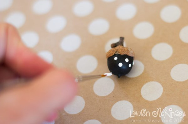 Painted Acorn Decor by Lauren McKinsey on Everyday Party Magazine