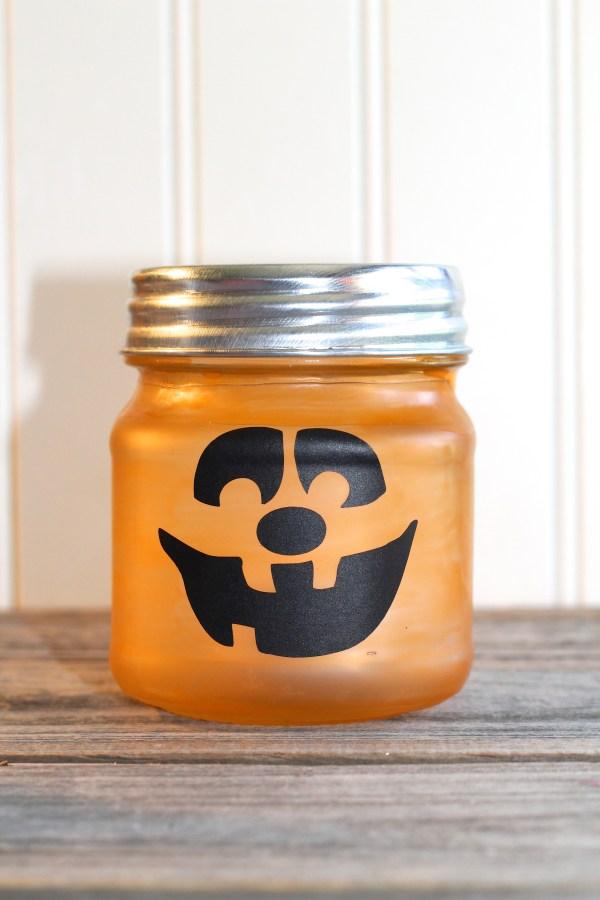 Everyday Party Magazine Simple Glass Jar Jack O Lantern DIY
