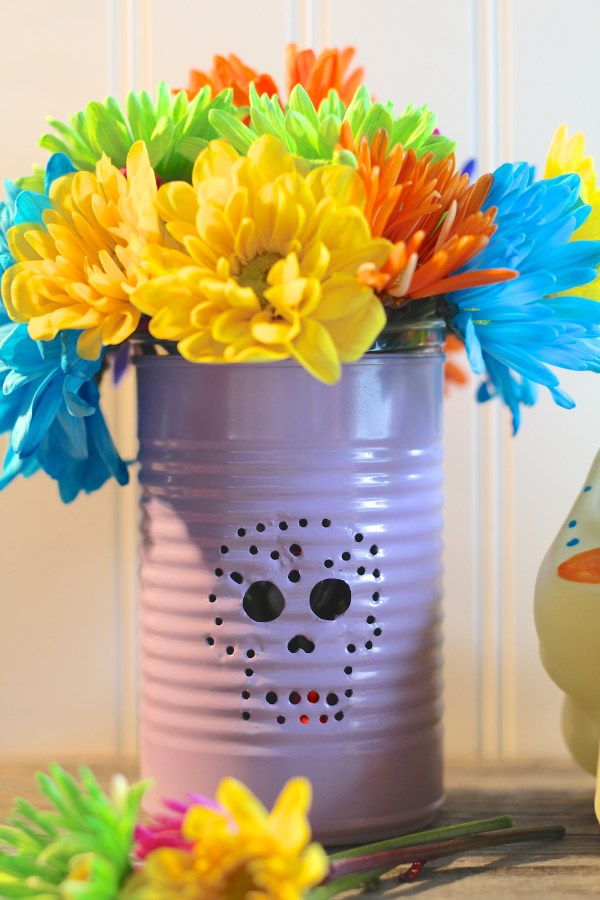 Everyday Party Magazine Sugar Skull Tin Can Candle Lantern DIY