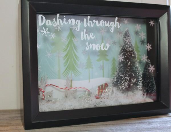 Everyday Party Magazine DIY Christmas Shadow Box