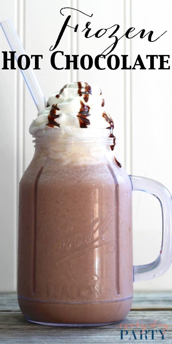Everyday Party Magazine Frozen Hot Chocolate