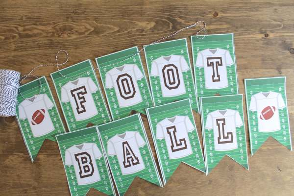 Everyday Party Magazine Free Printable Football Banner