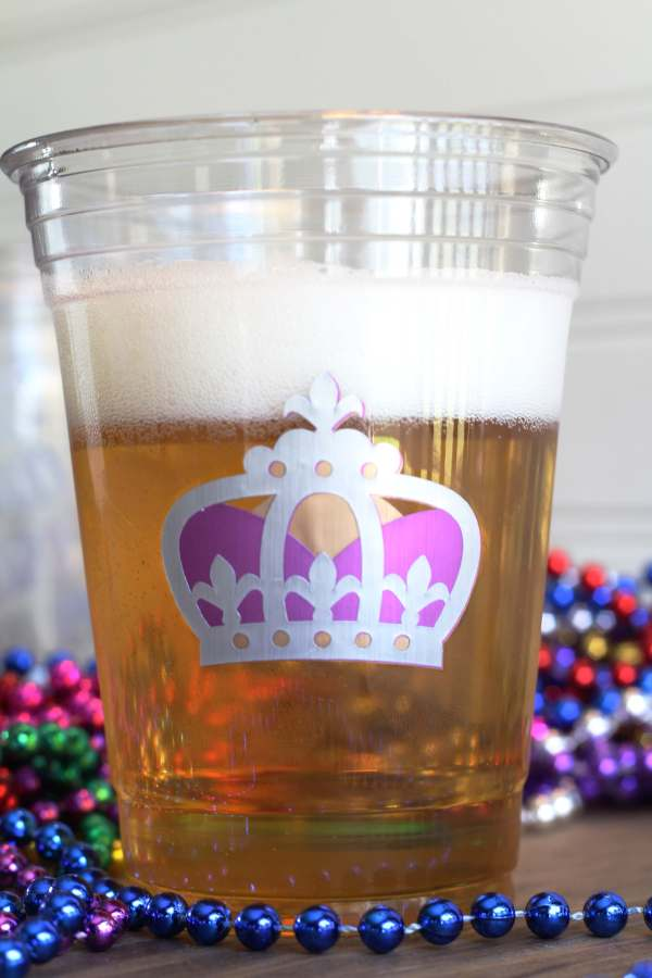 Everyday Party Magazine Simple DIY Mardi Gras Glasses