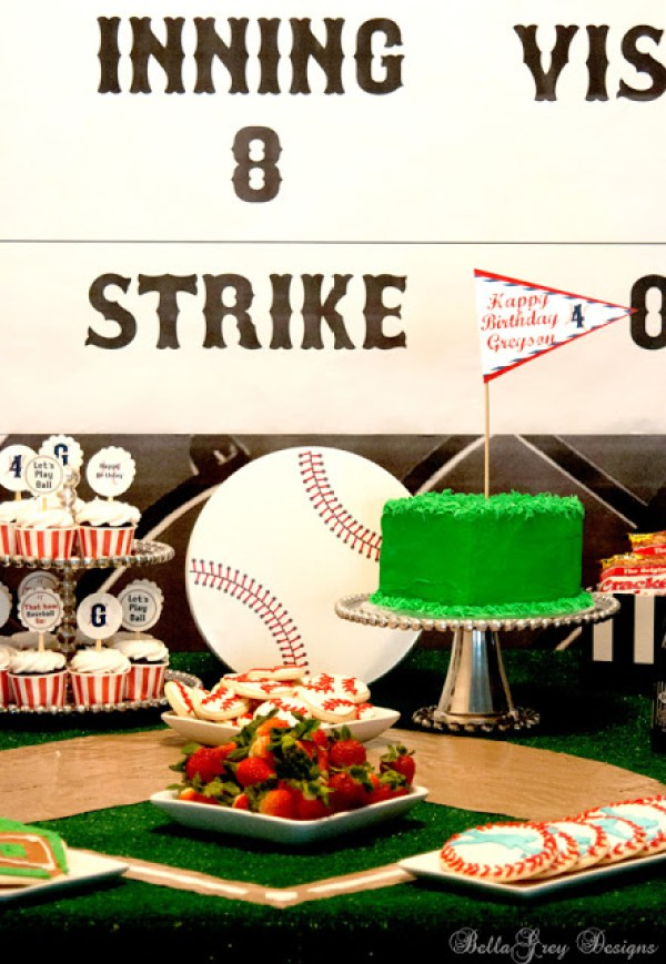 Everyday Party Magazine Vintage Baseball Party by BellaGrey Designs
