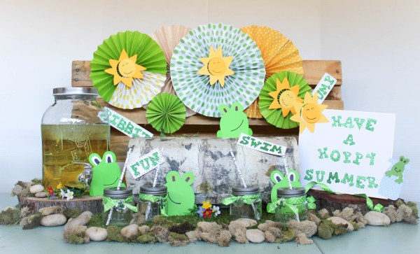 Everyday Party Magazine Froggy Lemonade Stand by Ritzy Parties
