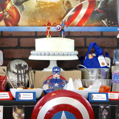 Everyday Party Magazine Captain America Civil War Party