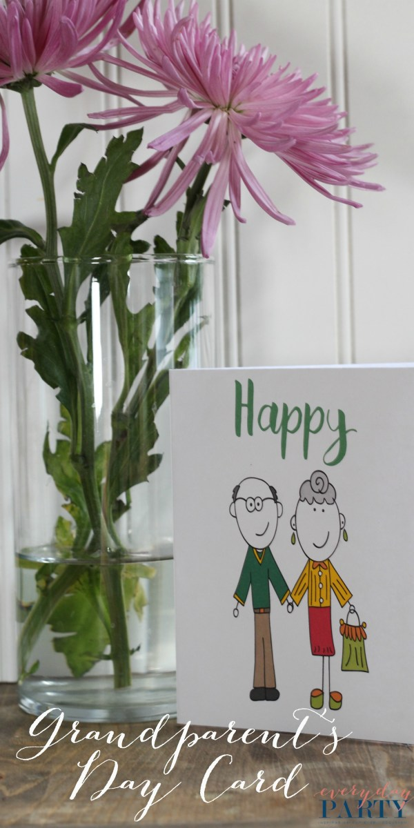 Everyday Party Magazine Free Printable Grandparent's Day Card