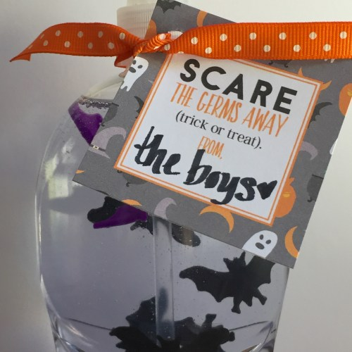 Everyday Party Magazine Scare Away the Germs Printable Tag and DIY
