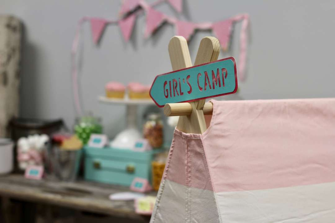 Everyday Party Magazine Girls Camping Party