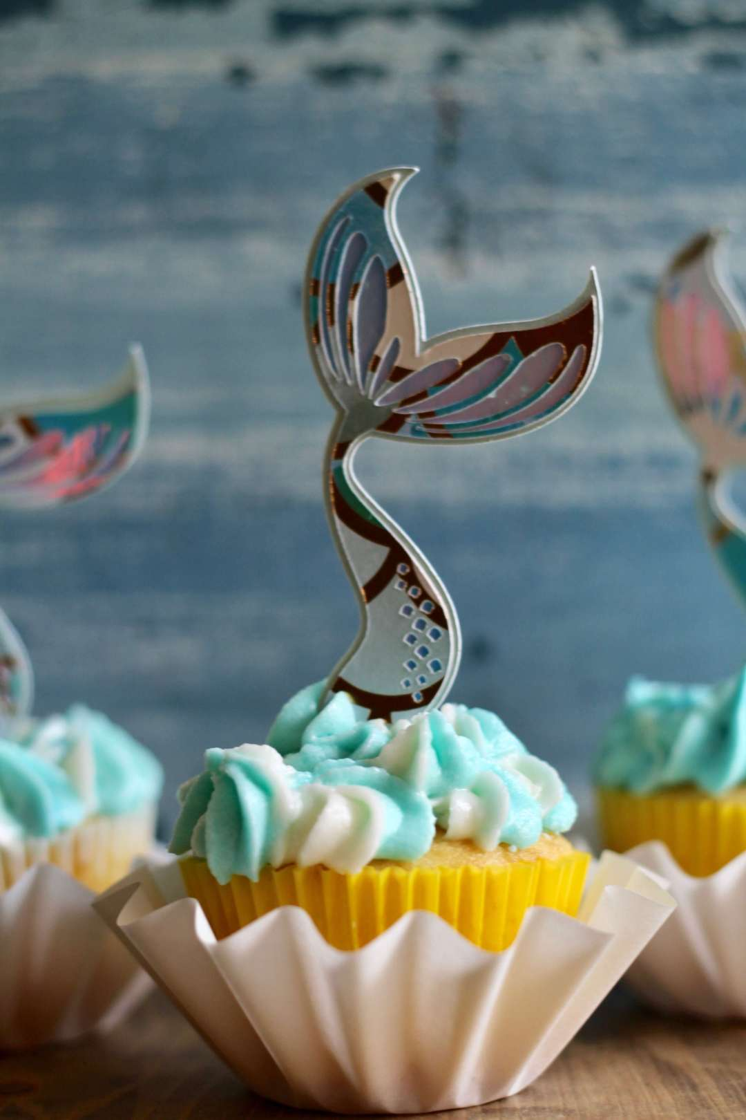 Everyday Party Magazine Simple Mermaid Tail Cupcake Toppers with Cricut