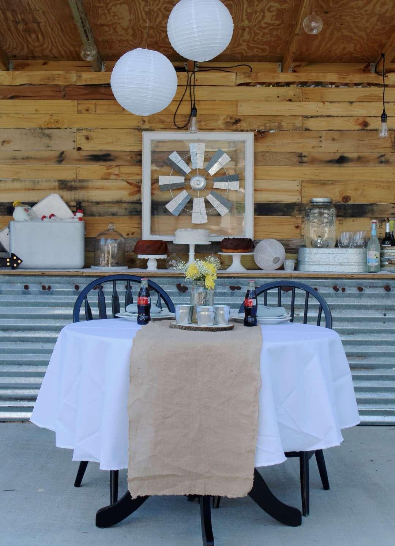 Sweetheart Table, Rustic Wedding Table, Barn Wedding, Vintage, Oriental Trading Co., Reception, DIY, Marry Me