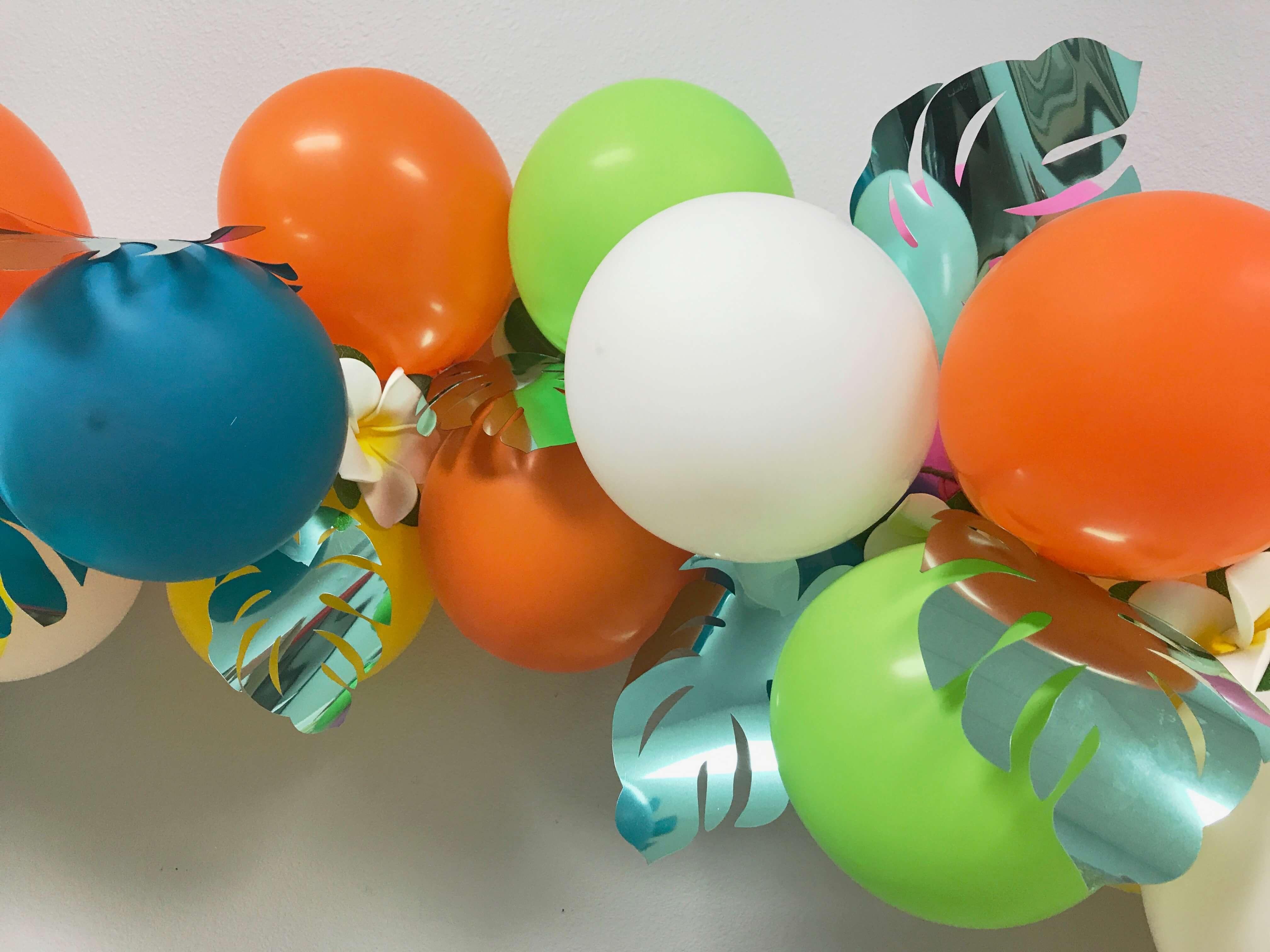 DIY, Balloon Garland, Plumeria, Luau, Cricut, Everyday Party Magazine