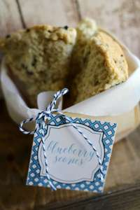 Everyday Party Magazine Blueberry Scone Gift Idea