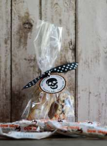Everyday Party Magazine Halloween Bone Treats with Cow Tales Minis