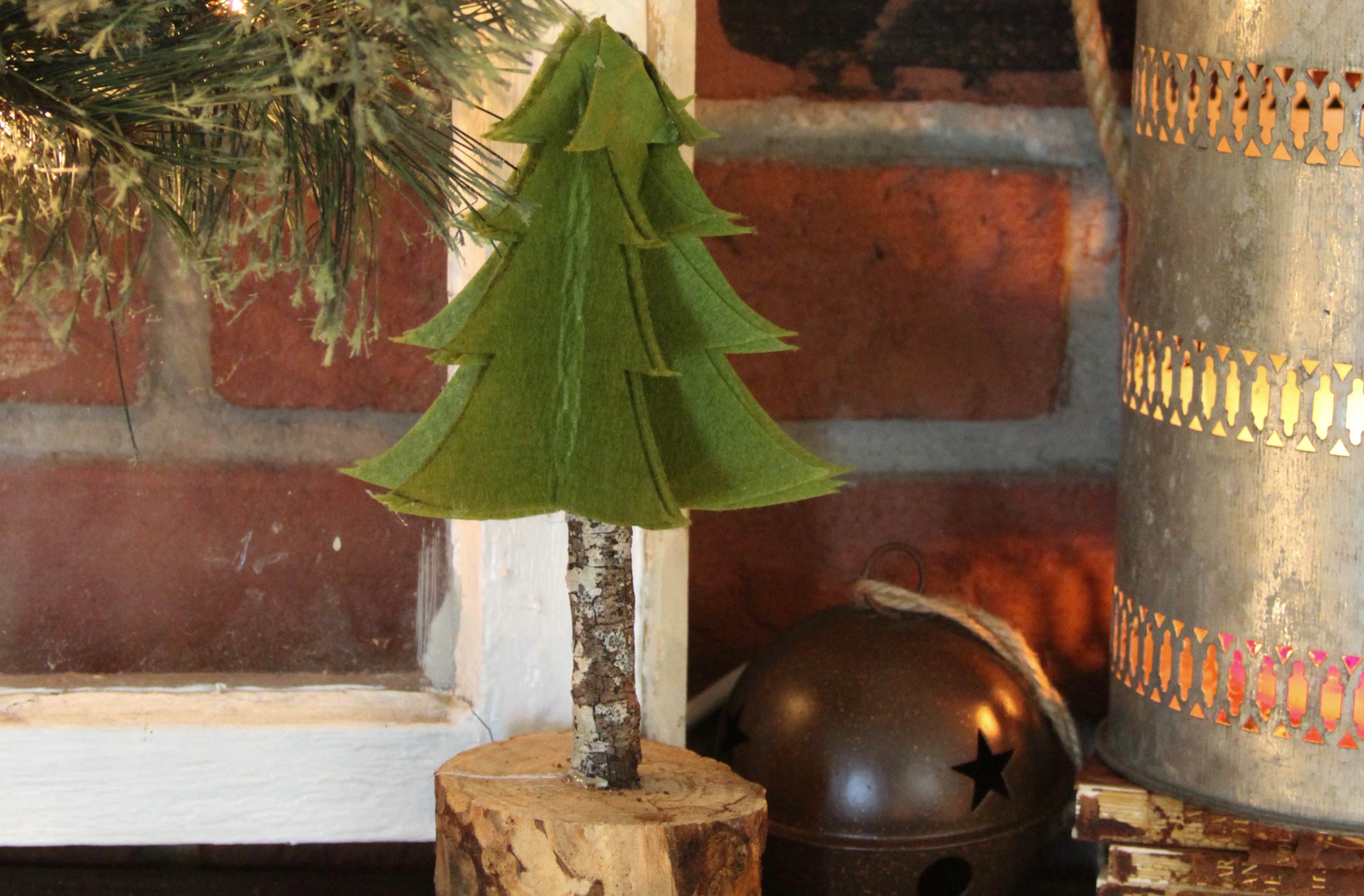 Everyday Party Magazine DIY Rustic Felt Christmas Tree