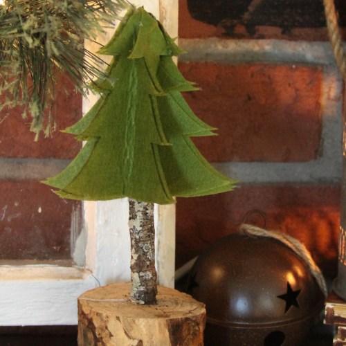 Everyday Party Magazine DIY Rustic Felt Christmas Tree