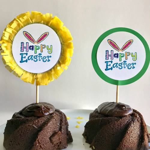 Everyday Party Magazine Easter Cake Toppers #Easter #Party #DIYParty