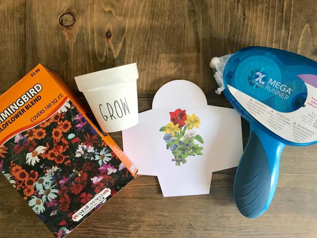 Everyday Party Magazine Simple Garden Easter Gift #Garden #DIY #RaeDunn #Xyron #Cricut #CraftLightning
