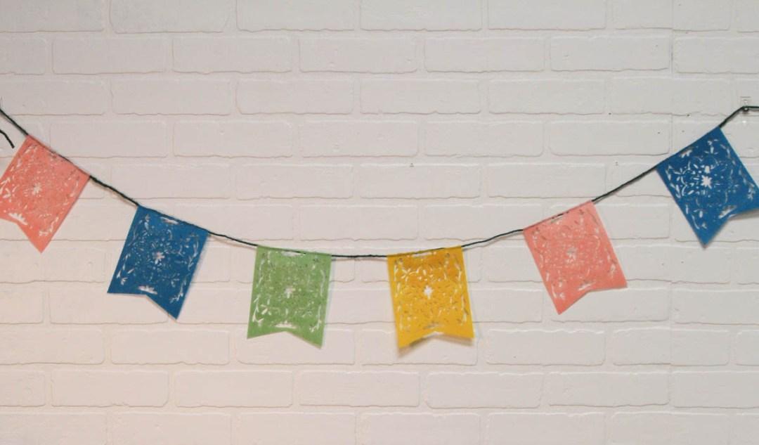 Everyday Party Magazine DIY Cinco De Mayo Picado Banner #CincoDeMayo #PicadoBanner #CricutMade #DIY