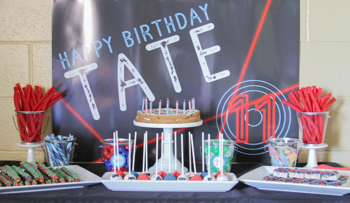 Everyday Party Magazine Laser Tag Birthday Party #LaserTag #KidsParty #GoKartParty #BirthdayParty #BoysBirthday