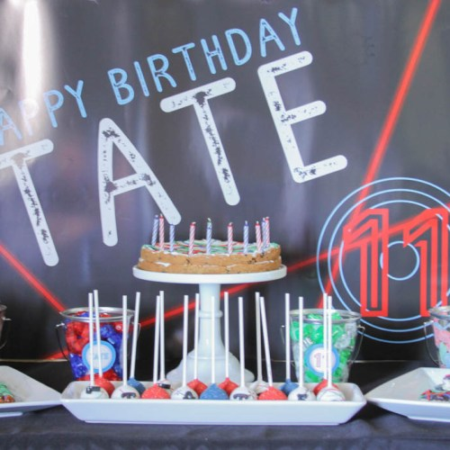 Everyday Party Magazine Laser Tag Birthday Party #LaserTag #KidsParty #GoKartParty #BirthdayParty #BoysBirthday