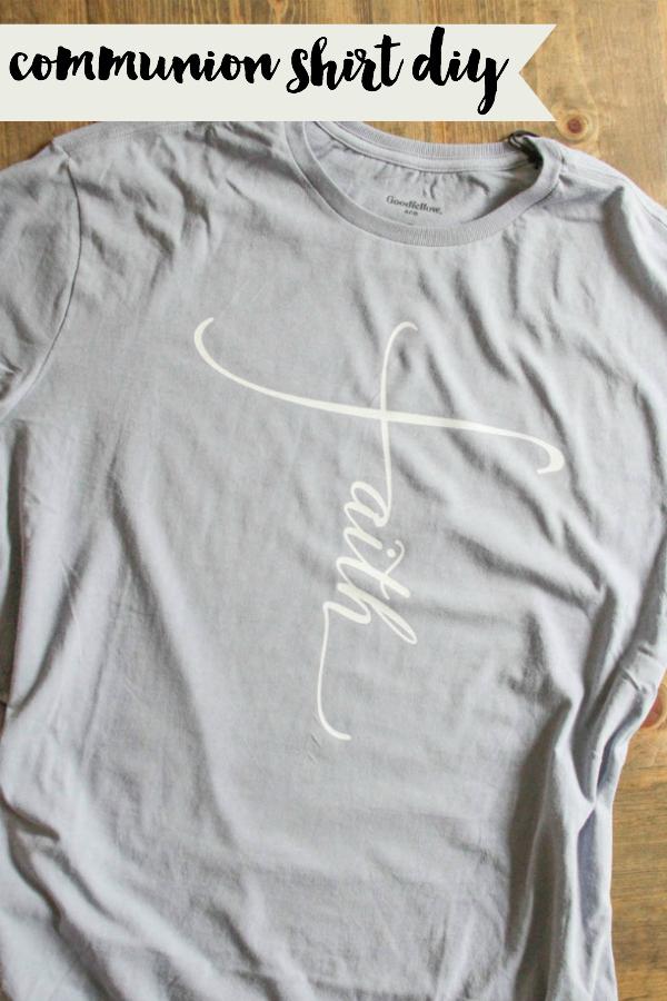 Simple Communion Shirt DIY #HolyCommunion #FirstCommunion #DIYGift #SVG