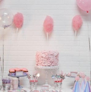 Everyday Party Magazine Cotton Candy Party #CricutMade #MarthaStewart #CottonCandy #CottonCandyParty #UnicornParty