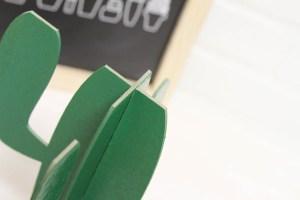 Everyday Party Magazine DIY Cactus Cupcake Stand #Cricut #CricutMaker #CricutKnifeBlade #DIY #CincodeMayo