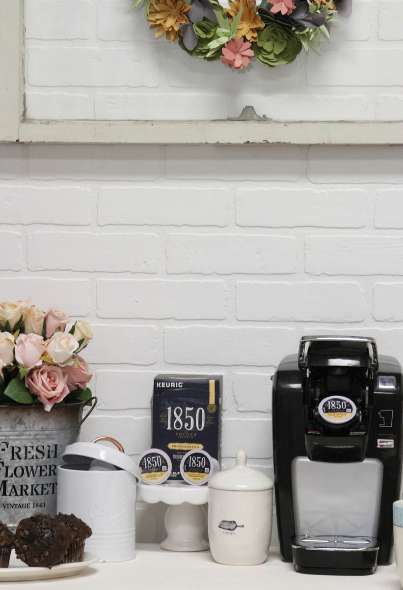 Everyday Party Magazine Simple DIY Coffee Bar #DIYCoffeeBar #HomeCoffeeBar #Coffee #KCups