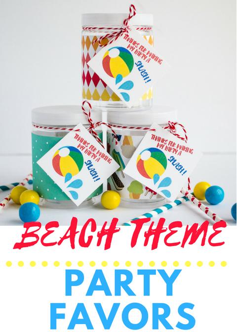 beach theme party favors ideas