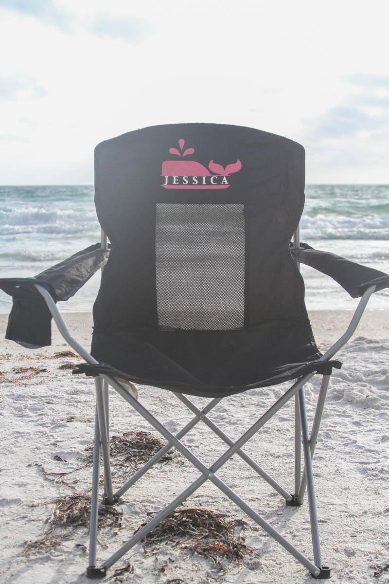 Everyday Party Magazine Custom Camp Chairs #CricutMade #CampChair #DIY #VineyardVines #mongram