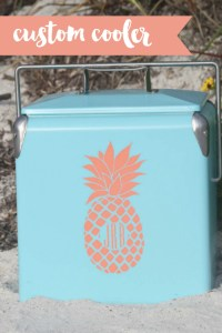 Everyday Party Magazine DIY Cooler Decal with Cricut #CricutMade #CoolerDIY #MarthaStewart #MichaelsMaker