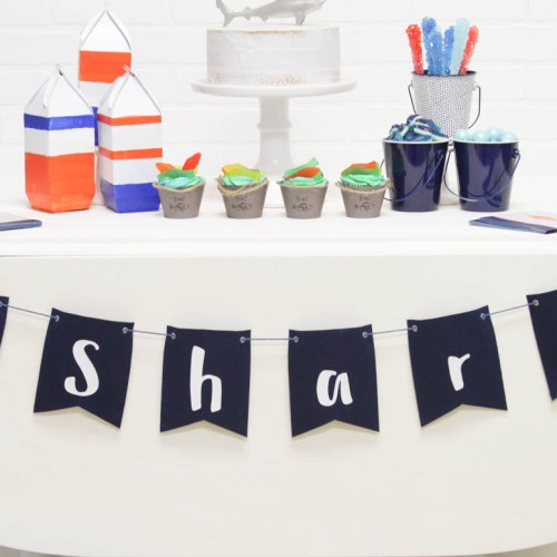 Everyday Party Magazine Shark Week Party #CricutMade #MarthaStewart #Michaels #SharkWeek