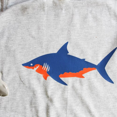 Everyday Party Magazine Shark Week Shirt DIY #SharkWeek #SharkShirt #CricutMade #DIY #Shirts
