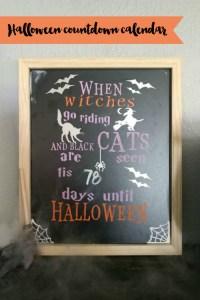 Everyday Party Magazine Halloween Countdown Calendar #Halloween #HalloweenDIY #HocusPocus