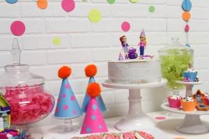 Polly Pocket Cake Party Hats