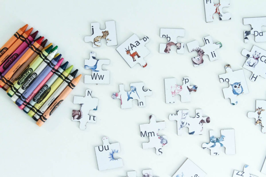 Crayons Alphabet Puzzle