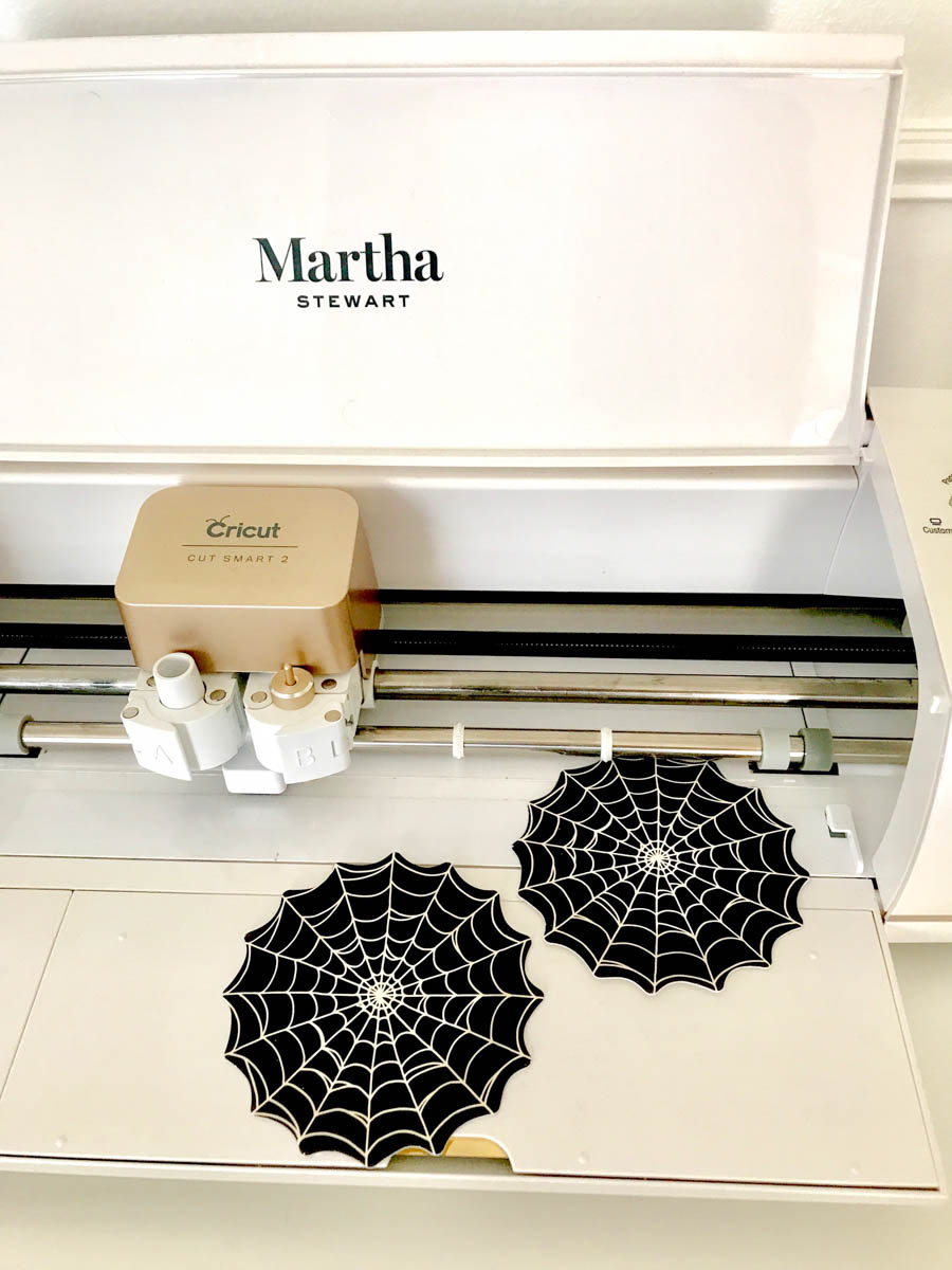 Martha StewartCricut Explore Air 2 Spider Web Coasters