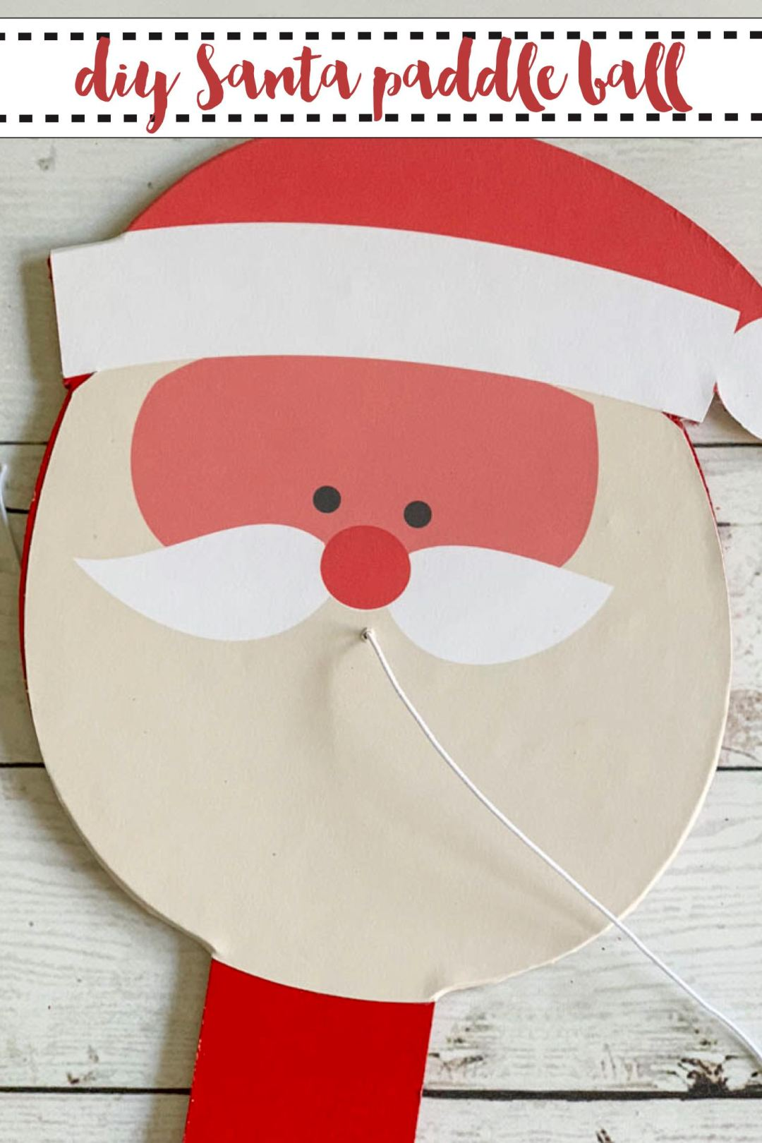 DIY Santa Paddle Ball