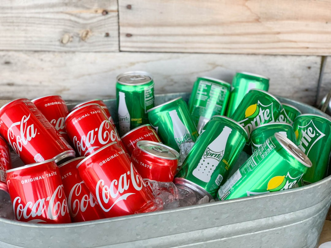 Coca Cola and Sprite in Ice Bucket