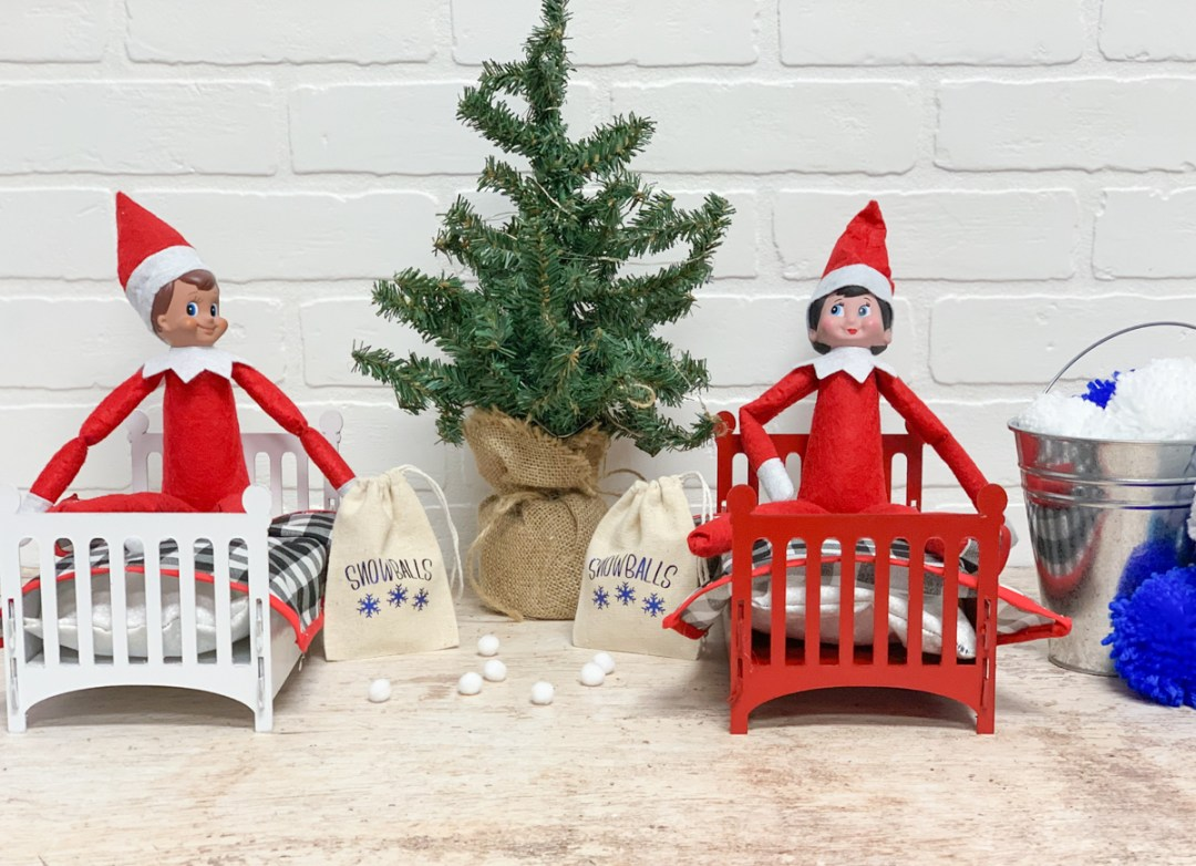 Elf on A shelf Elf Beds Christmas Tree Snowballs
