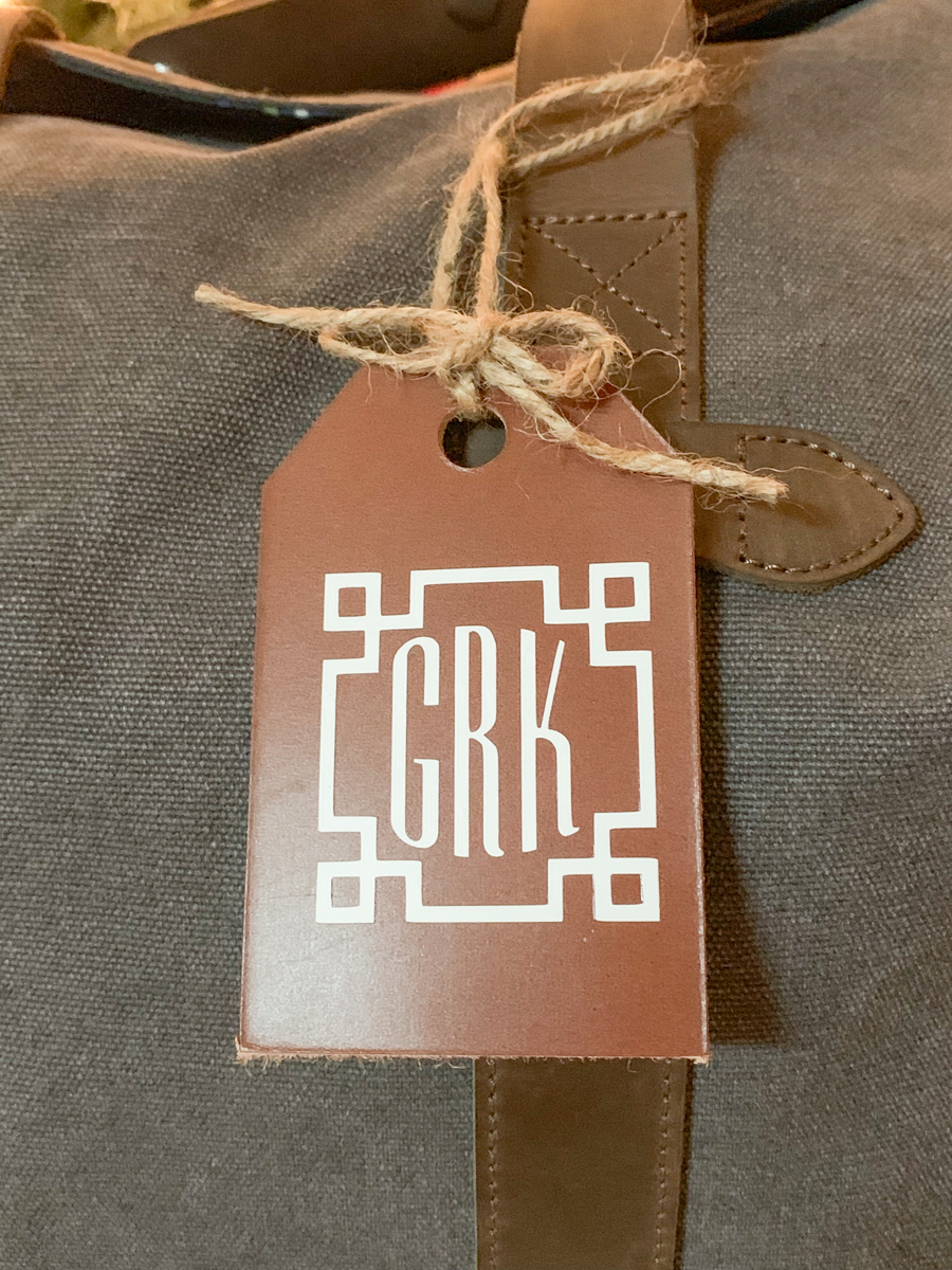 Monogrammed Leather Tag