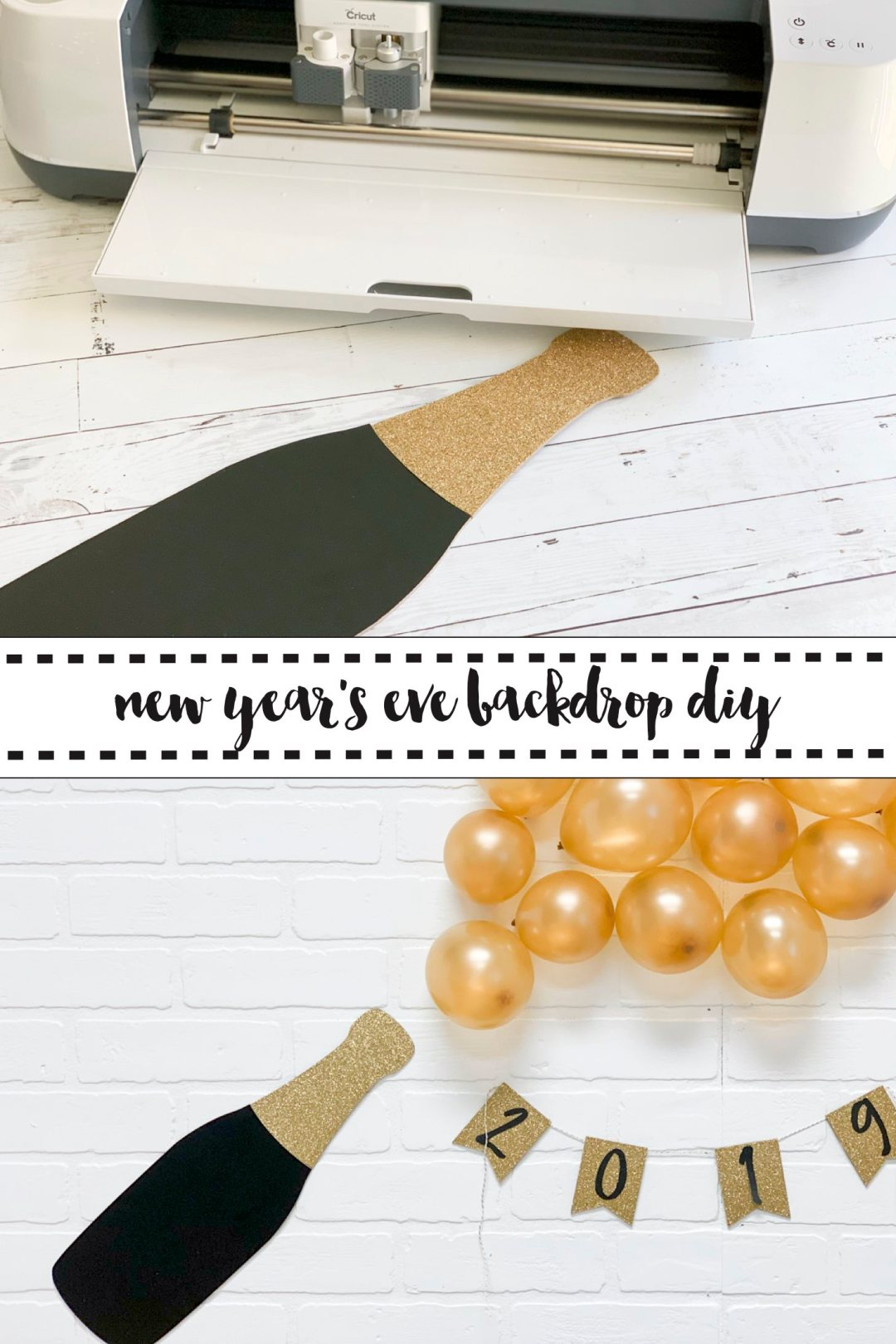 New Year's Eve Party Backdrop DIY