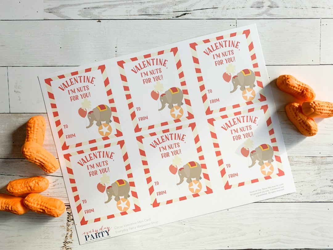 Circus Valentine's Day Cards