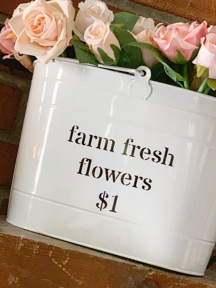 Farmhouse Style Flower Bucket