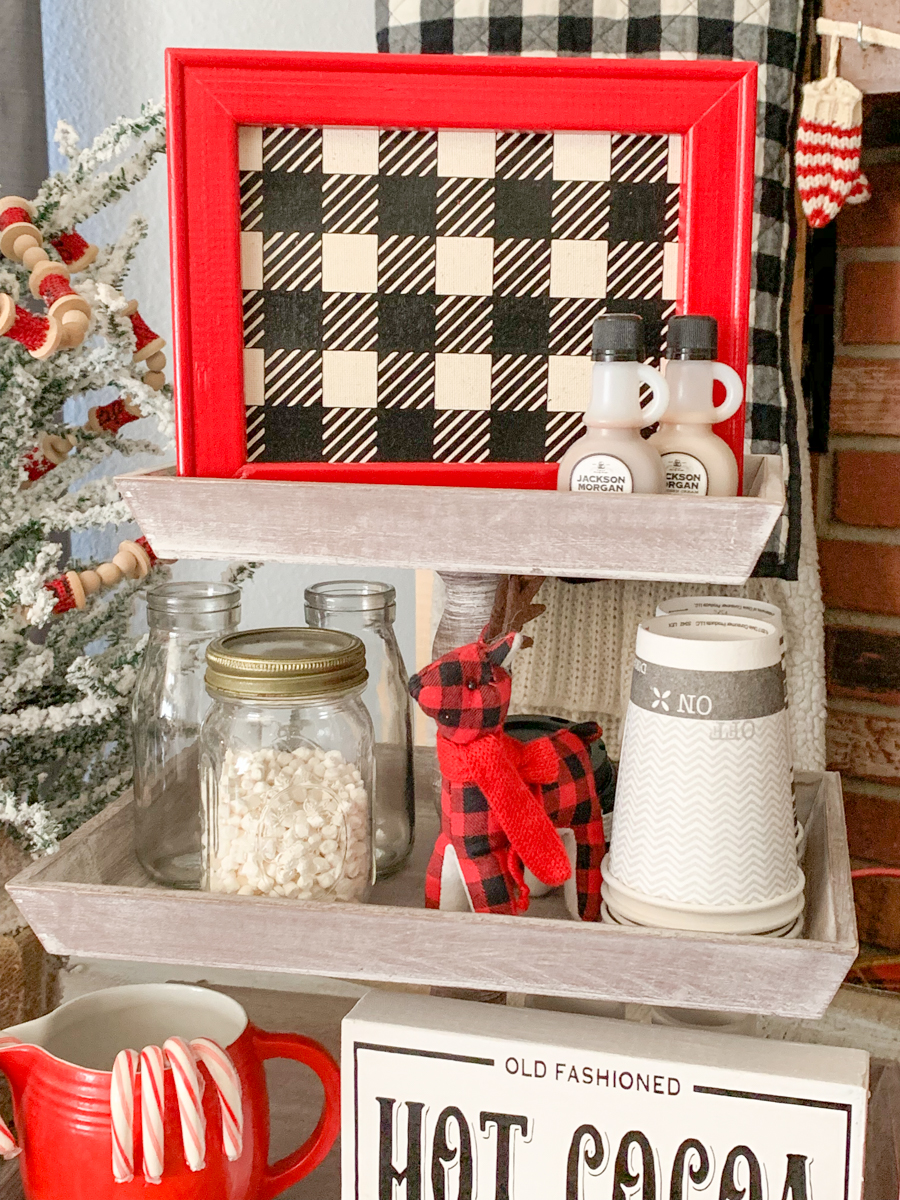 Hot Coca Farmhouse Tiered Tray