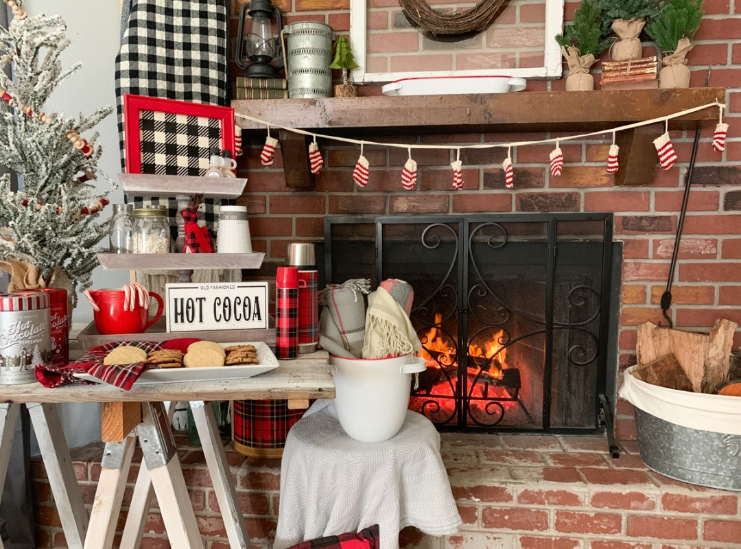 Cozy Cocoa Party Fire Place