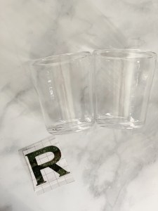 Glass Tumbler Monogrammed Letters