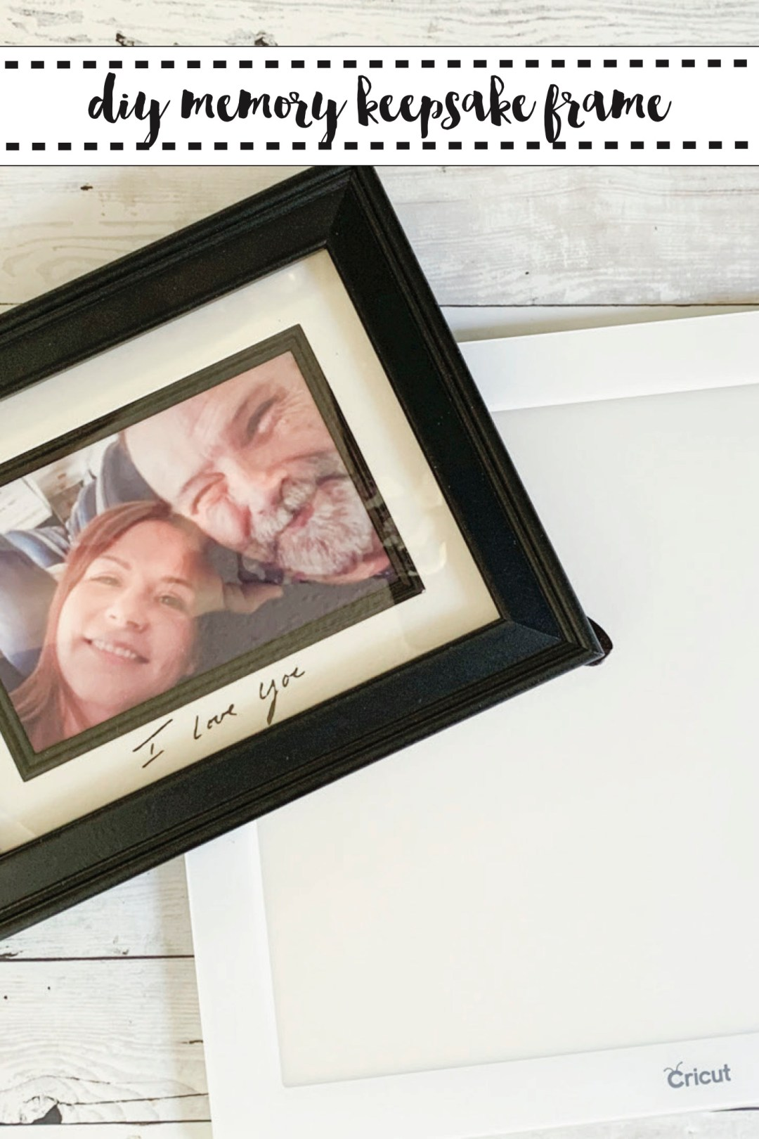 DIY Memory Frame Cricut BrightPad